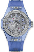 Hublot Big Band One Click Blue Sapphire Diamonds 465.JL.4802.RT.1204