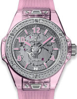 Hublot Big Band One Click Pink Sapphire Diamonds 465.JP.4802.RT.1204