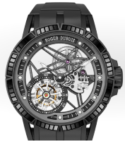 Roger Dubuis Excalibur Spider Skeleton Flying Tourbillon With Gem-Set Rubber Bezel RDDBEX0531