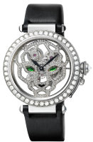 Cartier Creative Jeweled Watches Feminine Complications Pasha 42 mm Skeleton Watch With Panther Decor HPI00365
