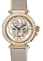 Cartier Creative Jeweled Watches Feminine Complications Pasha Skeleton Watch With Panther Decor 42 mm HPI00508