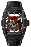Cvstos Hour Minute Seconde Challenge Jetliner 2 Inkskull Pirate Gun CVT-JET2-IS-PRG-CP5N BST
