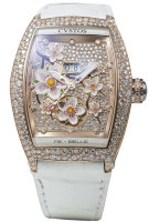 Cvstos Hour Minute Seconde Re-Belle Sakura Red Gold 5N Snow Setting MOP Dial