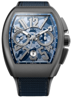 Franck Muller Mens Collection Vanguard Camouflage V 45 CC DT CAMOU Blue