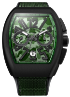 Franck Muller Mens Collection Vanguard Camouflage V 45 CC DT CAMOU Green