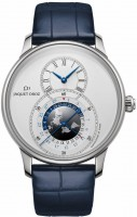 Jaquet Droz Grande Seconde Dual Time Silver j016030241