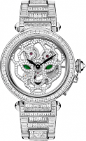 Cartier Creative Jeweled Watches Feminine Complications Pasha Skeleton Watch With Panther Decor 42 mm HPI00513