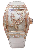 Cvstos Hour Minute Seconde Re-Belle Papillon Red Gold 5N Snow Setting Diamond Dial