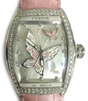 Cvstos Hour Minute Seconde Re-Belle Papillon Steel Diamond Rose Butterfly