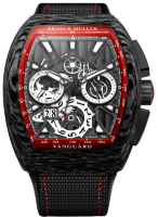 Franck Muller Mens Collection Vanguard Grand Date V 45 CC GD SQT CARBONE