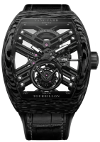 Franck Muller Mens Collection Vanguard Skeleton V 45 T SQT CARBONE