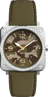 Bell & Ross Instruments BR S Green Camo Diamonds BRS-CK-ST-LGD/SCA