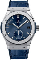 Hublot Classic Fusion Blue Power Reserve Titanium 45mm 516.NX.7170.LR