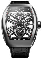 Franck Muller Mens Collection Vanguard Skeleton V 45 T SQT Steel