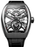 Franck Muller Mens Collection Vanguard Skeleton V 45 T SQT BR Steel