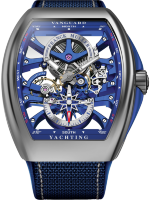 Franck Muller Mens Collection Vanguard Yachting Anchor Skeleton Classic V 45 S6 SQT ANCRE YACHT (BL)