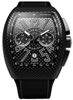 Franck Muller Mens Collection Vanguard PXL V 45 CC DT BLACK PXL