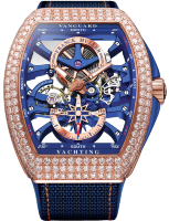 Franck Muller Mens Collection Vanguard Yachting Anchor Skeleton Classic V 45 S6 SQT ANCRE YACHT D (BL) RG