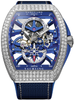 Franck Muller Mens Collection Vanguard Yachting Anchor Skeleton Classic V 45 S6 SQT ANCRE YACHT D (BL)