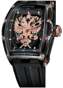 Cvstos Challenge Jet-Liner PROUD TO BE RUSSIAN - GERARD DEPARDIEU EDITION Black Steel PVD