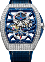 Franck Muller Mens Collection Vanguard Yachting Anchor Skeleton Power Reserve V 45 S6 PR SQT ANCRE FM YACHT D (BL)