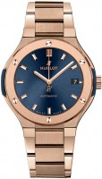 Hublot Classic Fusion King Gold Bracelet Blue 38 mm 568.OX.7180.OX