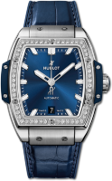 Hublot Spirit Of Big Bang Titanium Blue Diamonds 665.NX.7170.LR.1204