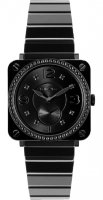 Bell & Ross Quartz BR S Black Ceramic Phantom Diamond Bracelet
