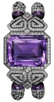 Cartier Creative Jeweled Watches High Jewelry Watches Purple High Jewelry Secret Hour Watch HPI00954