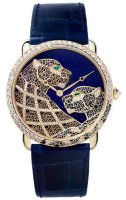 Cartier Creative Jeweled Watches Cartier d'Art Ronde Louis Cartier Filigree Panthers Decor Watch HPI00929