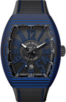 Franck Muller Mens Collection Vanguard V 41 SC DT CARBON.BL NR BL