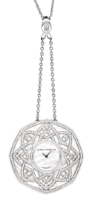 Harry Winston High Jewelry Timepieces The Jeweler's Secret Pendant HJTQHM48WW001