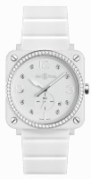Bell & Ross Instruments 39 mm Quartz BR S White Ceramic Diamonds