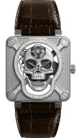 Bell & Ross Instruments 46 mm BR 01 Laughing Skull Light Diamond BR01-SKULL-SK-LGD