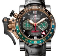 Graham Chronofighter Oversize GMT Steel & Gold 2OVGG.B16A