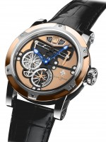 Louis Moinet Transcontinental By Louis Moinet Steel And Rose Gold