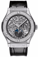 Hublot Classic Fusion Aerofusion Moonphase Titanium Diamonds 45 mm 517.NX.0170.LR.1104