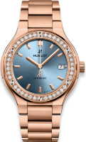 Hublot Classic Fusion King Gold Light Blue Bracelet 568.OX.891L.OX.1204