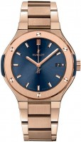 Hublot Classic Fusion Quartz King Gold Bracelet Blue 38 mm 585.OX.7180.OX