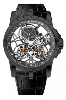 Roger Dubuis Excalibur Skeleton Double Flying Tourbillon in black titanium RDDBEX0471
