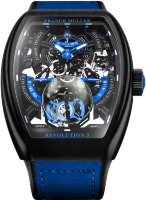Franck Muller Mens Collection Vanguard Revolution 3 Skeleton V 50 REV 3 SQT NR BR (BL)