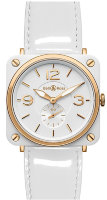 Bell & Ross Aviation BWhite Ceramic & Gold BR S 98-WCR