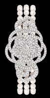 Chanel Jewelry 18k White Gold Cultured Pearls and Diamonds J10576