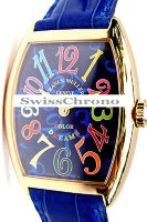 Franck Muller Mens Small Cintree Curvex 5850 SC COL DRM-2
