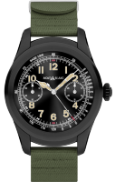 Montblanc Summit Smartwatch - Bi-color Steel Case with Khaki Green Rubber Strap 117539