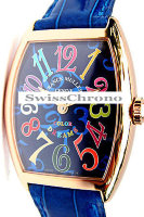 Franck Muller Mens Small Cintree Curvex 5850 SC COL DRM-5