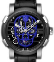Romain Jerome Skylab 48 Speed Metal Blue Skull RJ.M.AU.030.17