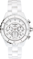 Chanel J12 White Diamond Dial Chronograph H2009