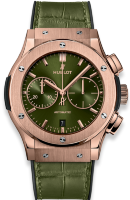 Hublot Classic Fusion Chronograph Green King Gold 45 mm 521.OX.8980.LR