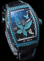 Cvstos Hour Minute Seconde Re-Belle Papillon Blue Saphhires